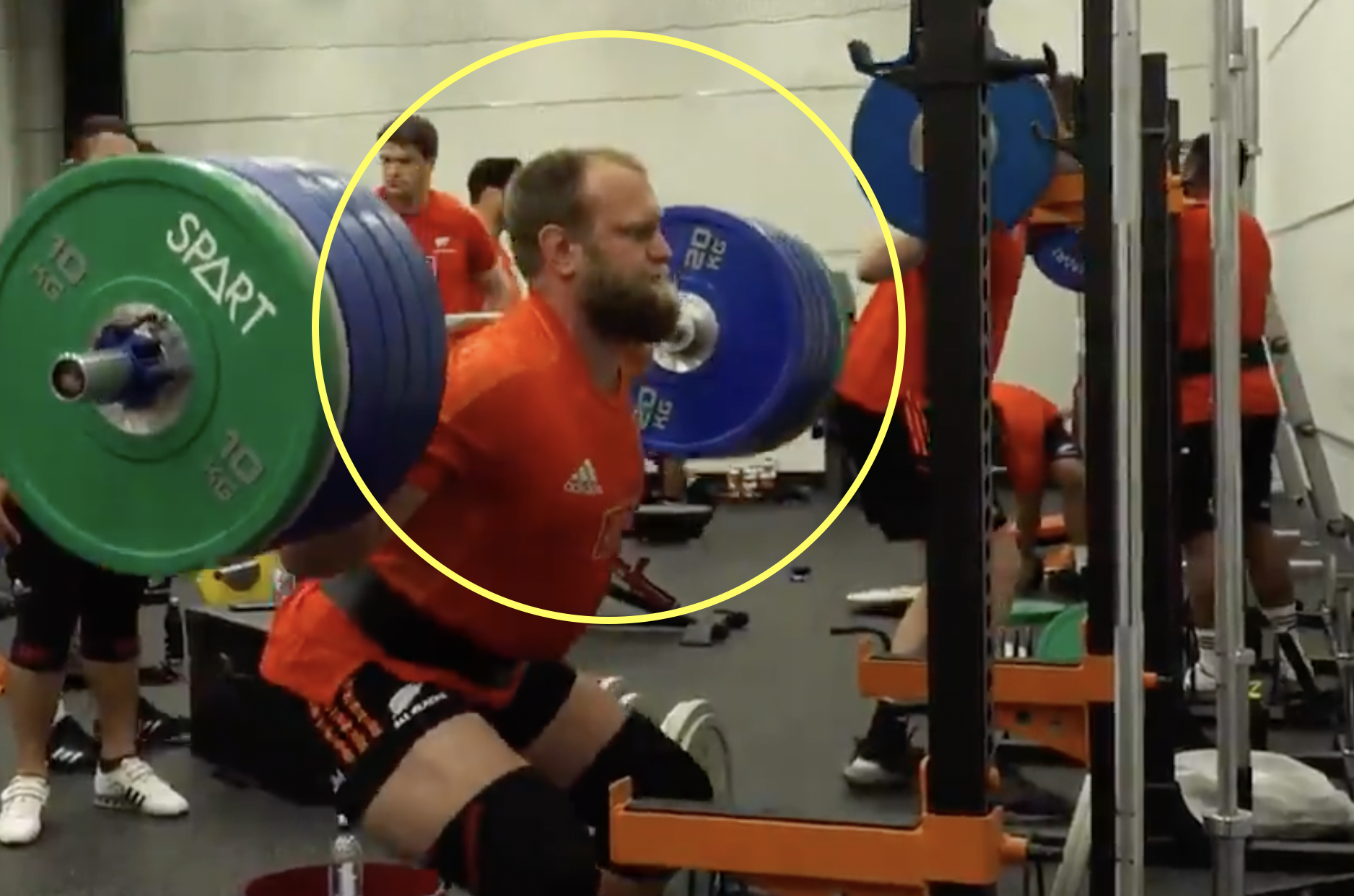 All Blacks props gearing up for Boks clash with squat-off in the gym