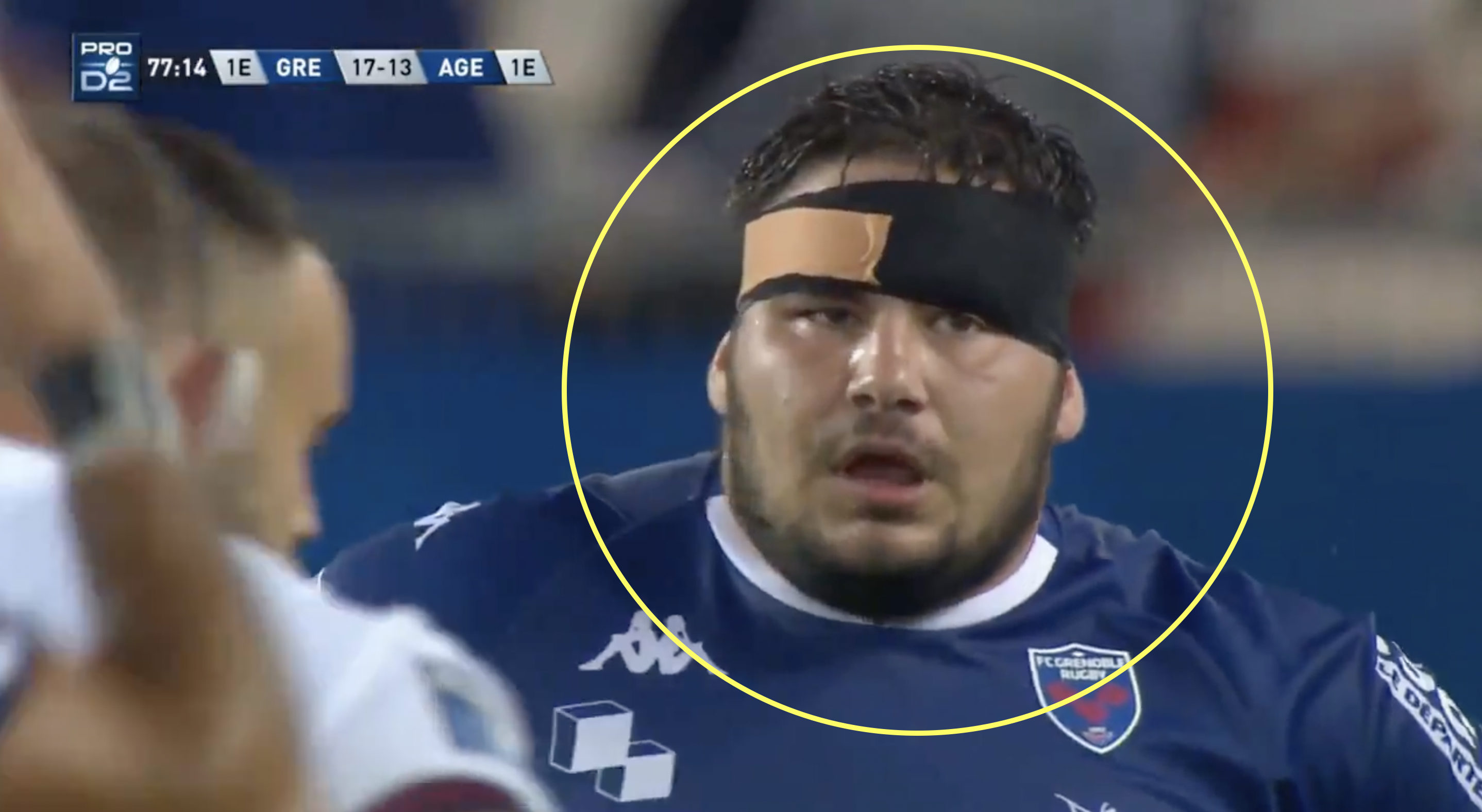 Grenoble prop produces game-changing kick for the ages