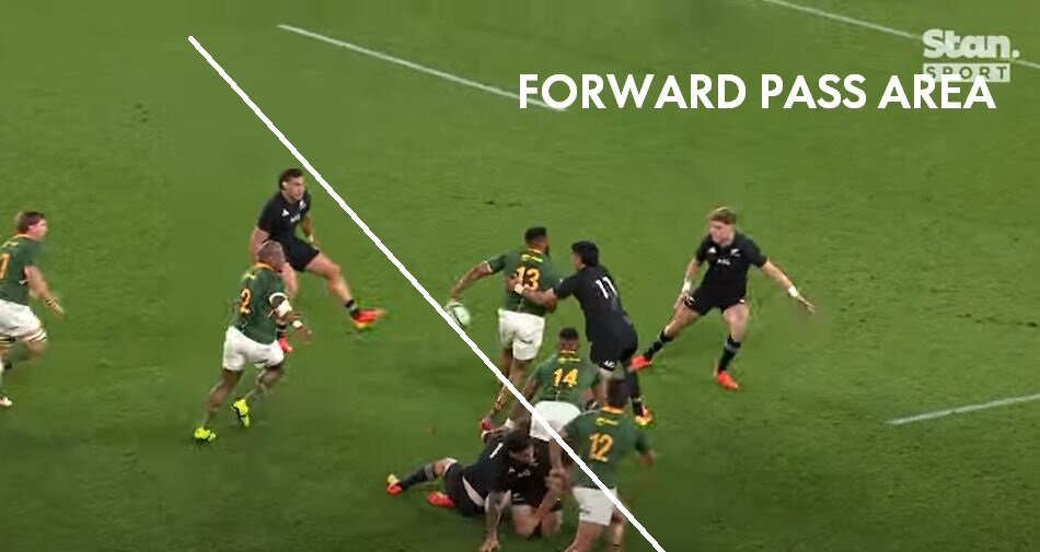 Video proves Lukhanyo Am pass probably forward